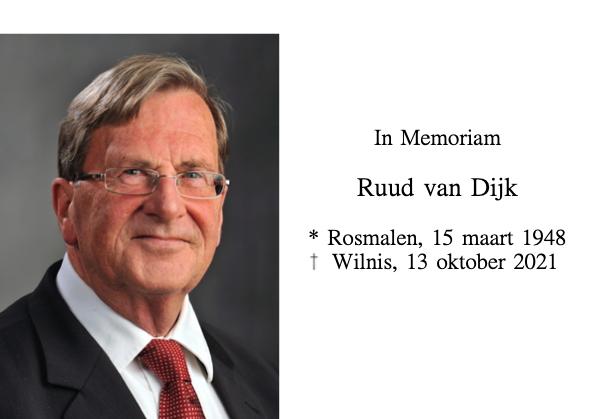 In Memoriam Ruud van Dijk